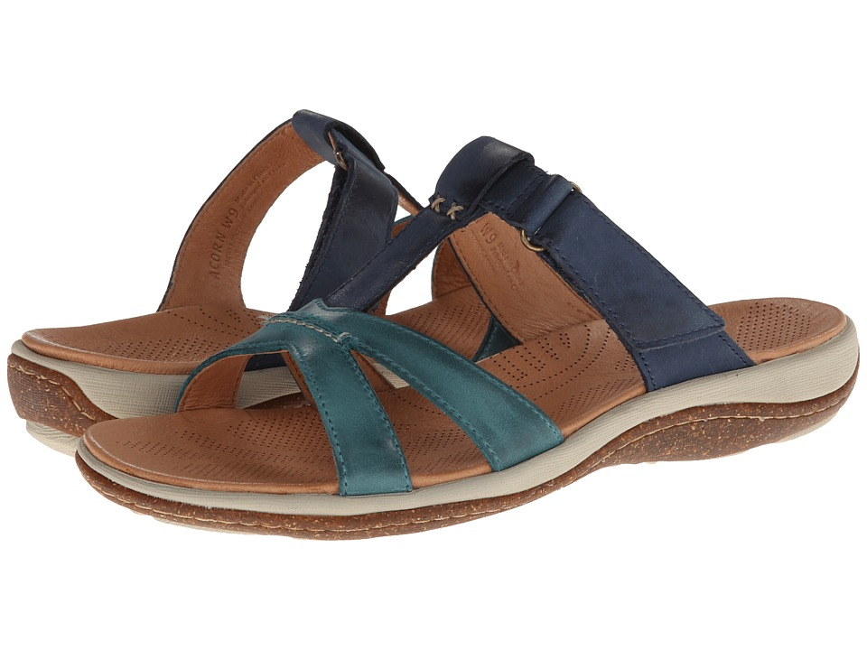Acorn - C2G Lite T-Strap (Navy/Sea) Women's Slippers