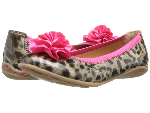 Kenneth Cole Reaction Kids - Lil Bit Of Buck (Little Kid/Big Kid) (Leopard Patent) Girl's Shoes