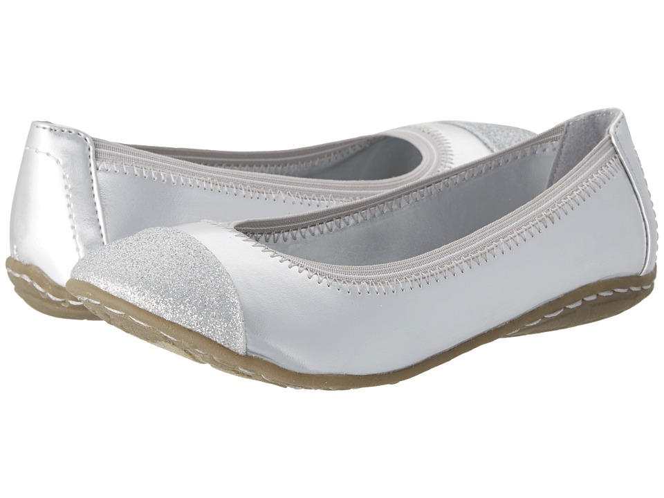 Kenneth Cole Reaction Kids Buck N Roll Girls Shoes (Silver)
