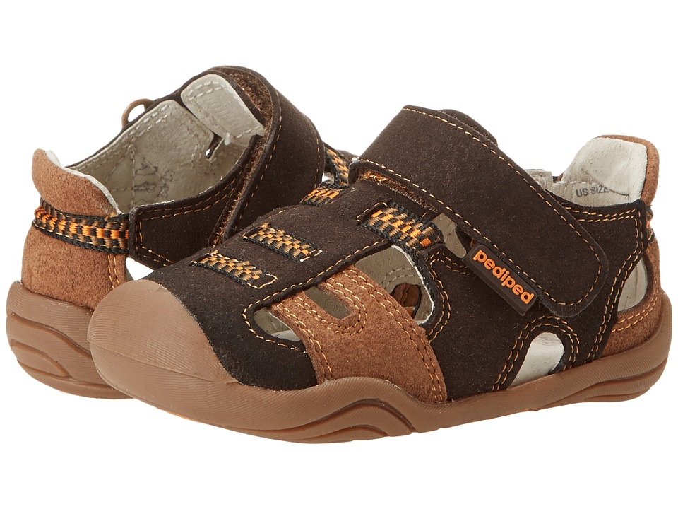 pediped - Brice Grip 'n' Go (Toddler) (Espresso) Boys Shoes