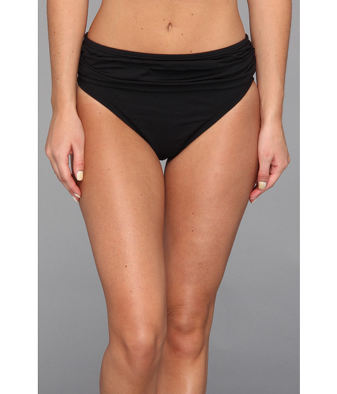 Tommy Bahama - Pearl Solids High Waist Sash Pant (Black) Women's Swimwear