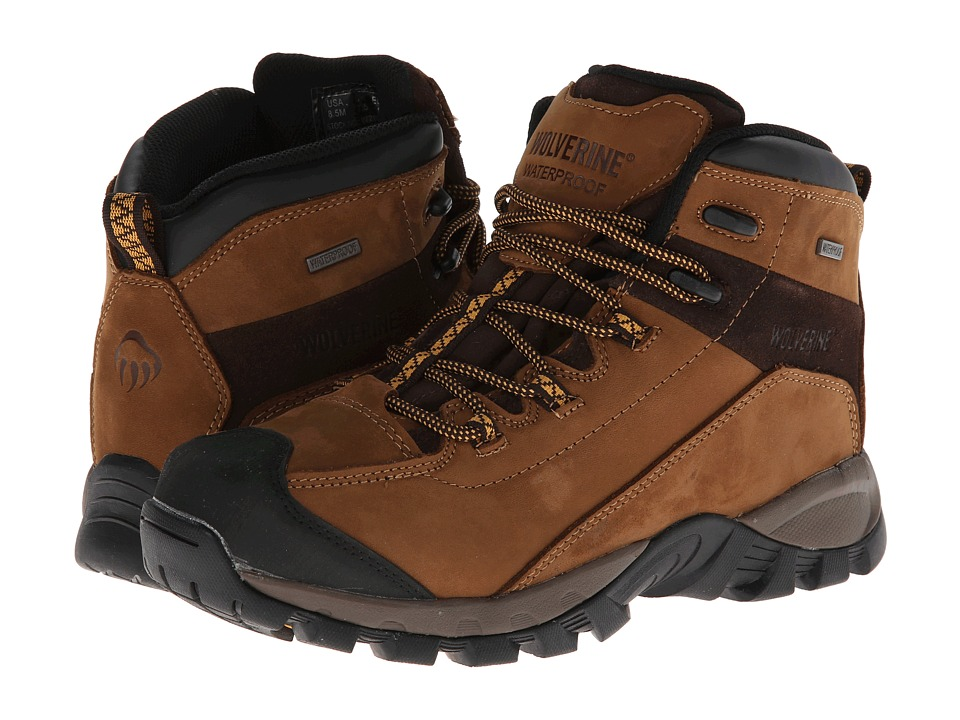 Wolverine - Black Ledge LX Waterproof Leather Mid-Cut Hiker (Cigar/Gold) Men's Hiking Boots