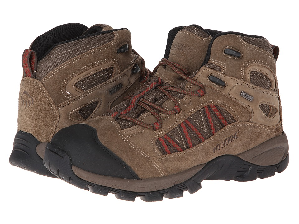 Wolverine - Black Ledge FX Waterproof Leather Mid-Cut Hiker (Brindle/Red) Men's Hiking Boots
