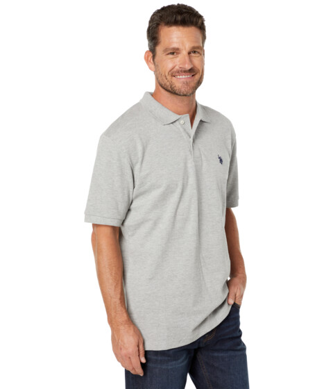 U.S. POLO ASSN. - Solid Polo with Small Pony (Medium Heather Grey) Men's Short Sleeve Knit