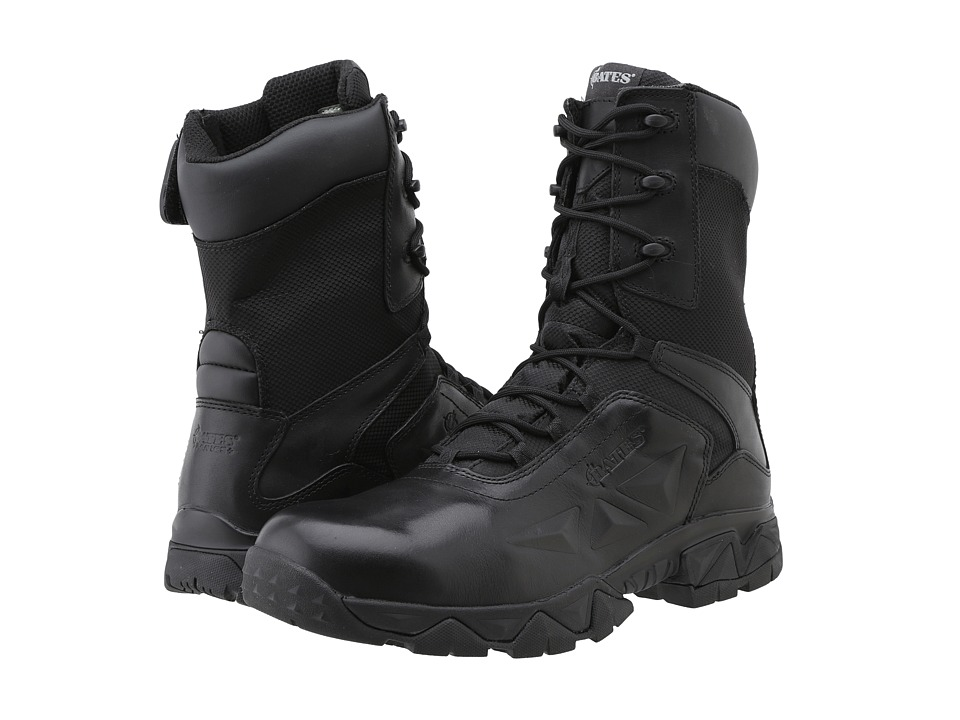 Bates Footwear - Delta Nitro-8 Zip Boot (Black) Men's Work Boots