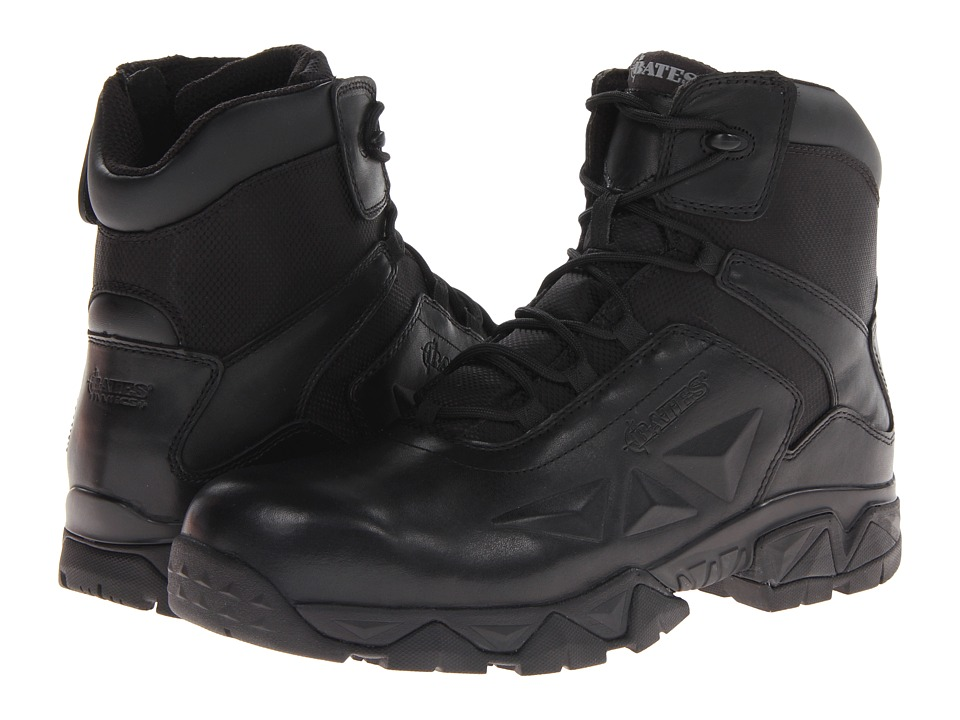 Bates Footwear - Delta Nitro-6 Zip Boot (Black) Men's Work Boots