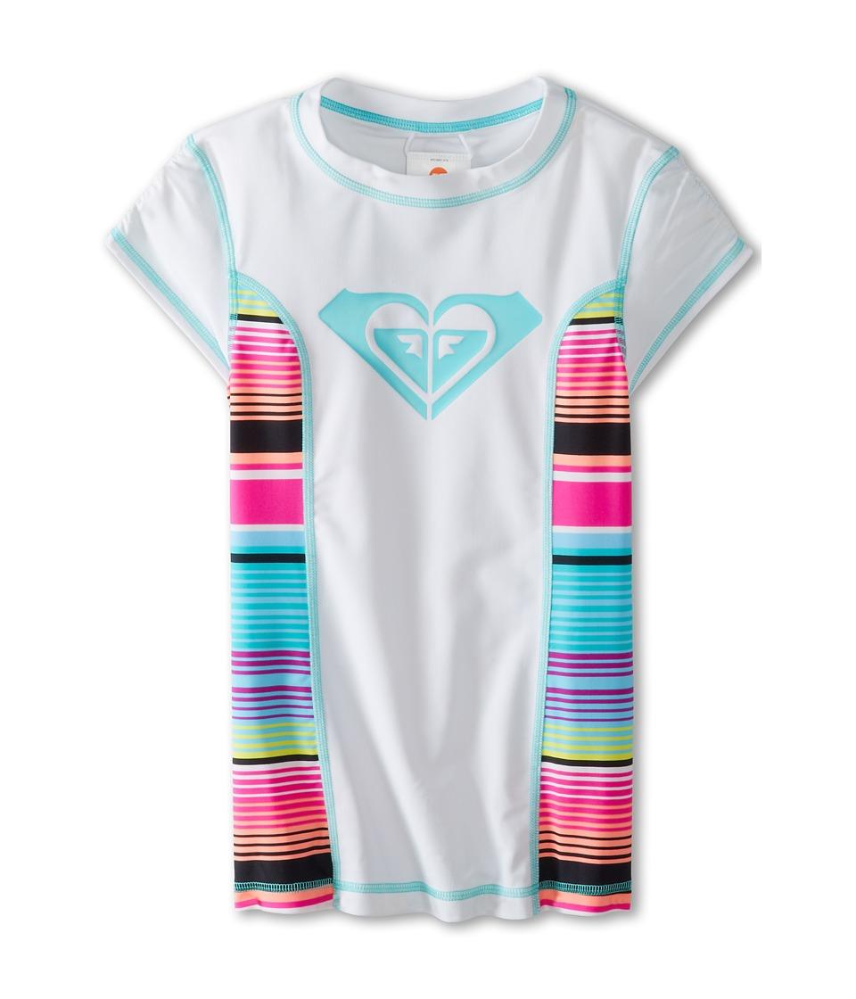 Roxy Kids Roxy Border S/S Rashguard Girls Swimwear (White)
