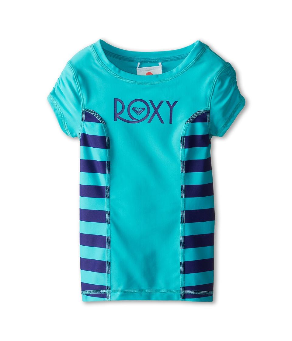 Roxy Kids Escape Rashguard Girls Swimwear (Blue)