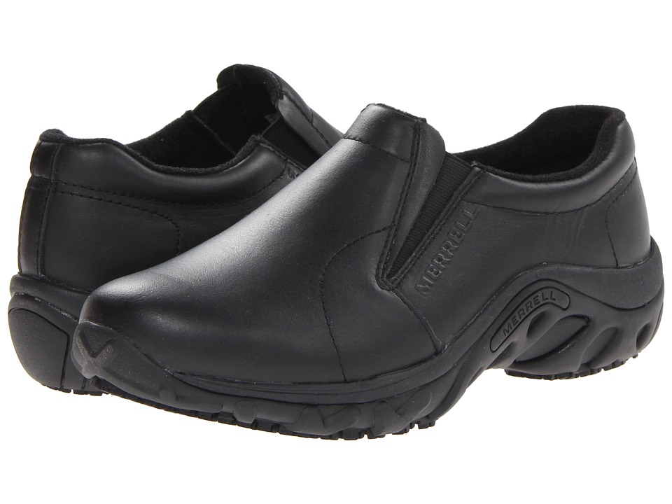 Merrell - Jungle Moc Pro Grip (Black) Women's Slip on Shoes