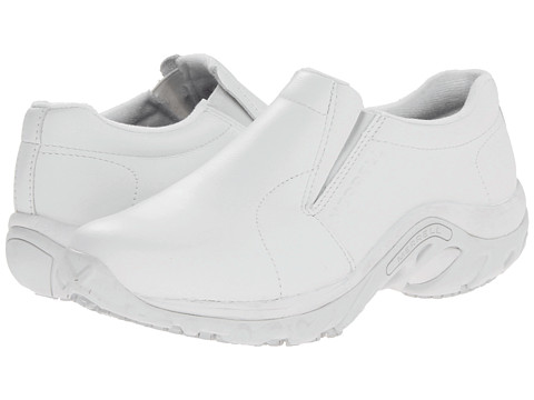 Merrell - Jungle Moc Pro Grip (White) Women's Slip on Shoes
