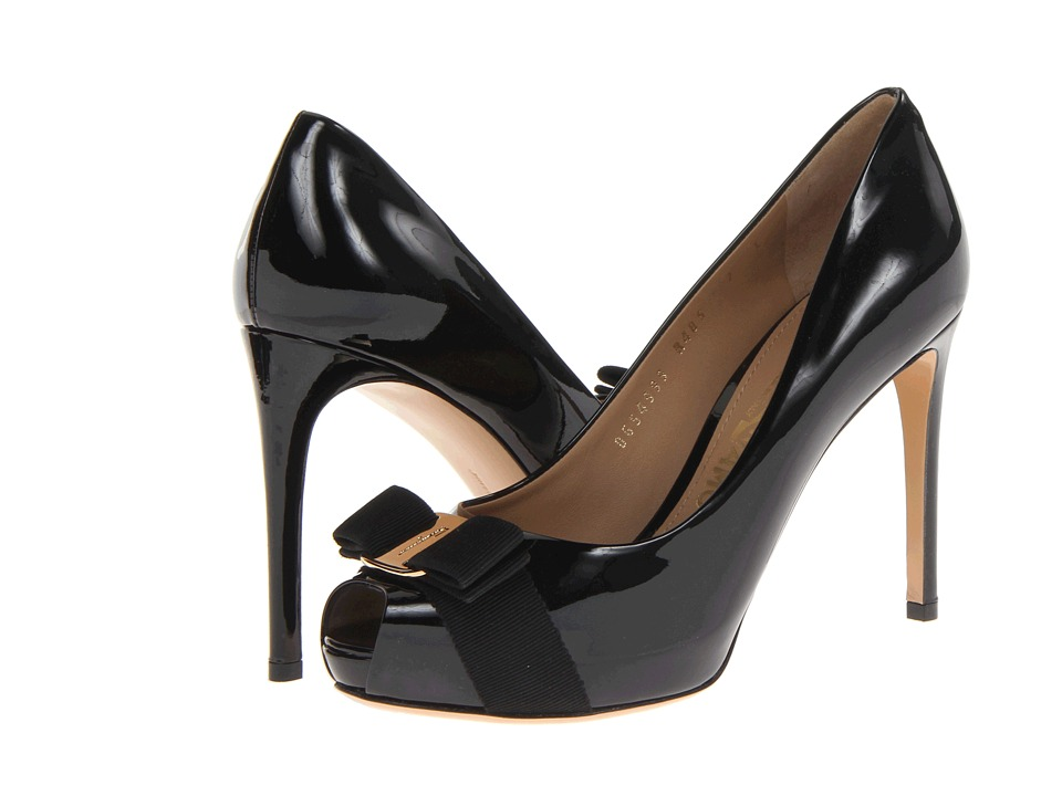 Salvatore Ferragamo Plum (Nero Patent) High Heels