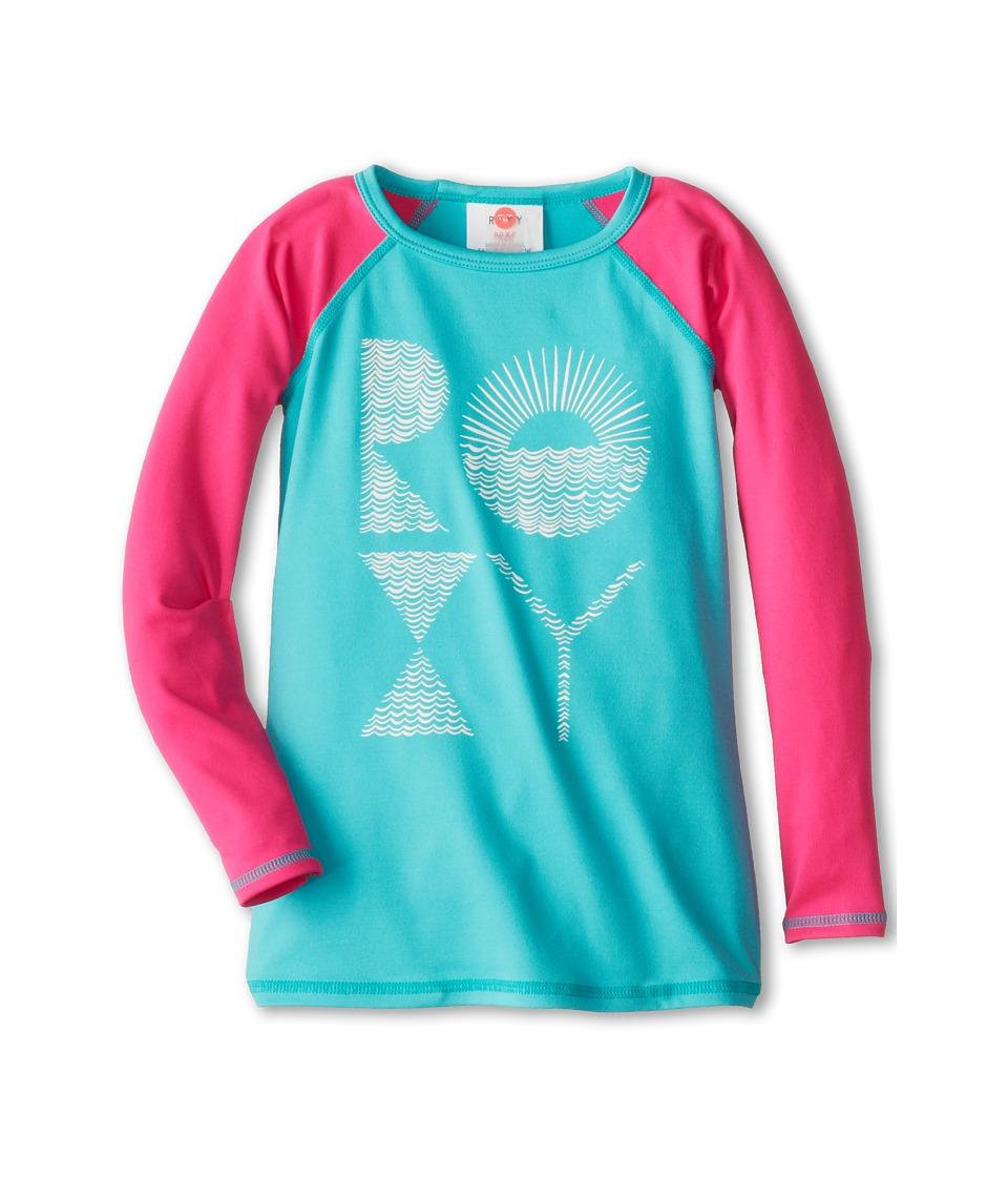 Roxy Kids Low Tide L/S Rashguard Girls Swimwear (Multi)
