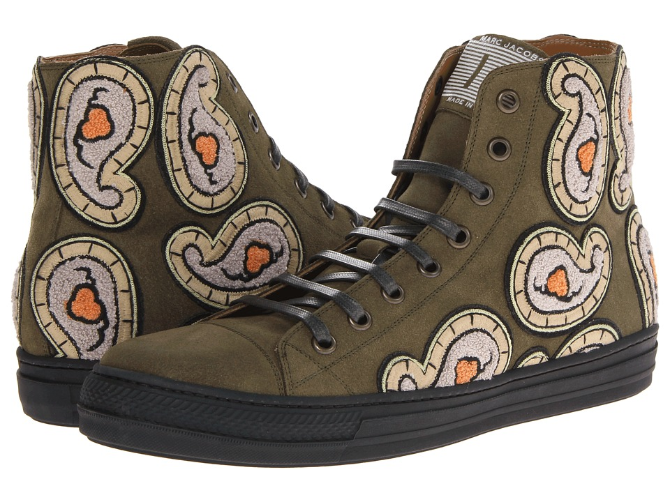 Marc Jacobs - Paisley High Top Trainer (Light Green Olive) Men's Shoes