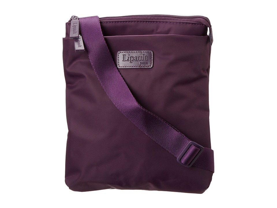 Lipault Paris - JPF Series - Large Cross Body Bag (Purple) Cross Body Handbags