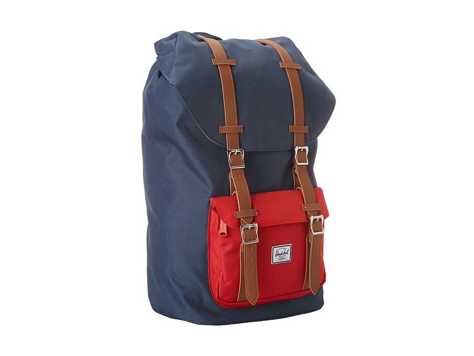 Herschel Supply Co. - Little America (Navy/Red) Backpack Bags