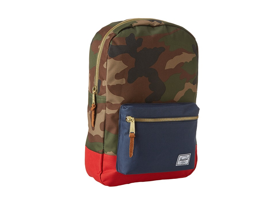 Herschel Supply Co. - Settlement Mid-Volume (Woodland Camo/Navy/Red) Backpack Bags