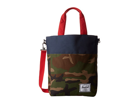 Herschel Supply Co. - Pier (Woodland Camo/Navy/Red) Handbags