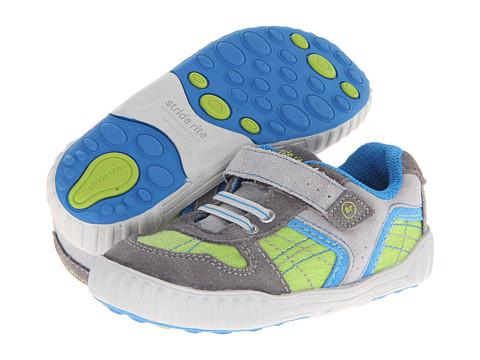 Stride Rite - SRT Travis (Toddler) (Grey/Lime/Blue) Boy's Shoes