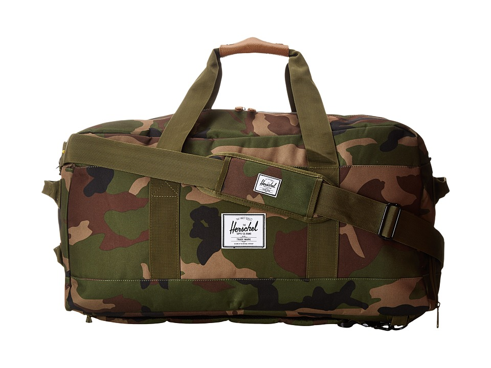 Herschel Supply Co. - Outfitter (Woodland Camo/Orange Rubber) Duffel Bags