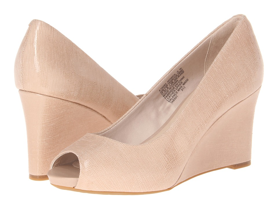 Rockport - Seven to 7 Peep Toe Wedge (Taupe) Women's Wedge Shoes