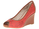 Rockport - Seven to 7 Laser Peep Toe Wedge (Poppy Red) - Footwear