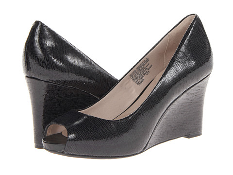 Rockport - Seven to 7 Peep Toe Wedge (Black) Women's Wedge Shoes