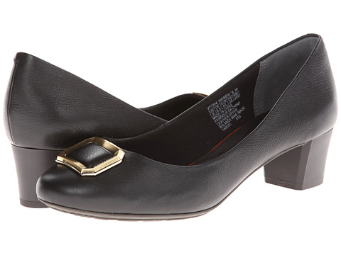 Rockport - Total Motion 45MM Buckle Pump (Black) Women's 1-2 inch heel Shoes