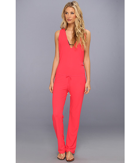 Luli Fama - Cosita Buena T-Back Long Jumpsuit Cover-Up (Bombshell Red) Women