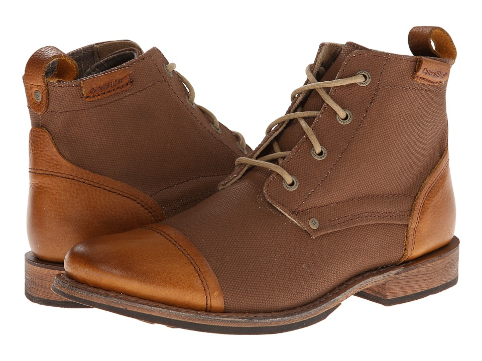 Caterpillar - Morrison Canvas (Tan) Men's Lace-up Boots