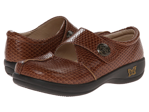 Alegria - Kaitlyn Professional (Cognac Burnish Snake) Women's Shoes