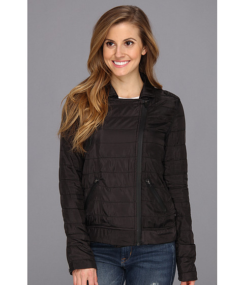 Hurley - Parachute Pack Moto Jacket (Black) Women's Coat