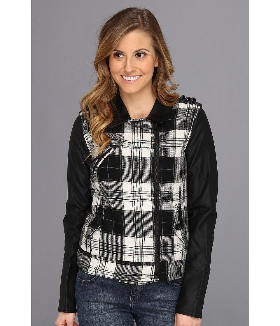 Hurley - Commodore Moto Jacket (Black) Women's Coat
