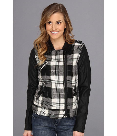 Hurley - Commodore Moto Jacket (Black) Women's Coat
