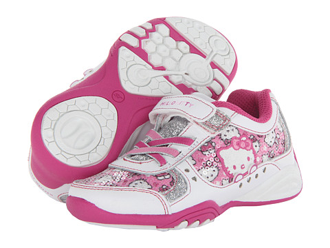 Stride Rite - Hello Kitty A/C (Toddler/Little Kid) (White/Pink) Girl