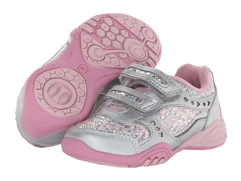 Stride Rite - SS Sunny (Toddler/Little Kid) (Silver/Light Pink) Girl