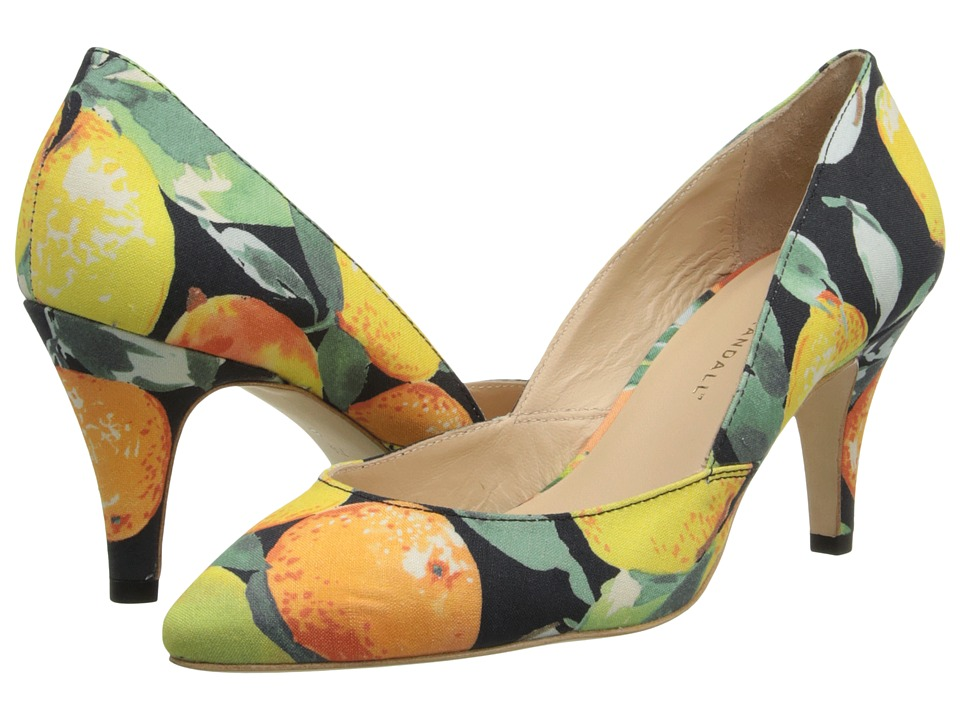 Loeffler Randall - Tamsin (Citrus/Black Silk Linen Mix) High Heels