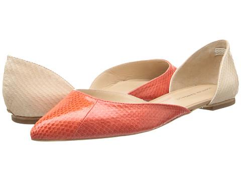 Loeffler Randall - Emma (Papaya/Cr me Watersnake) Women's Flat Shoes