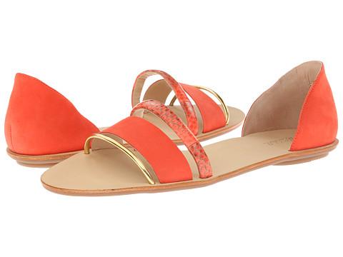 Loeffler Randall - Aggie (Papaya/Papaya Nubuck/Sea Snake) Women's Sandals