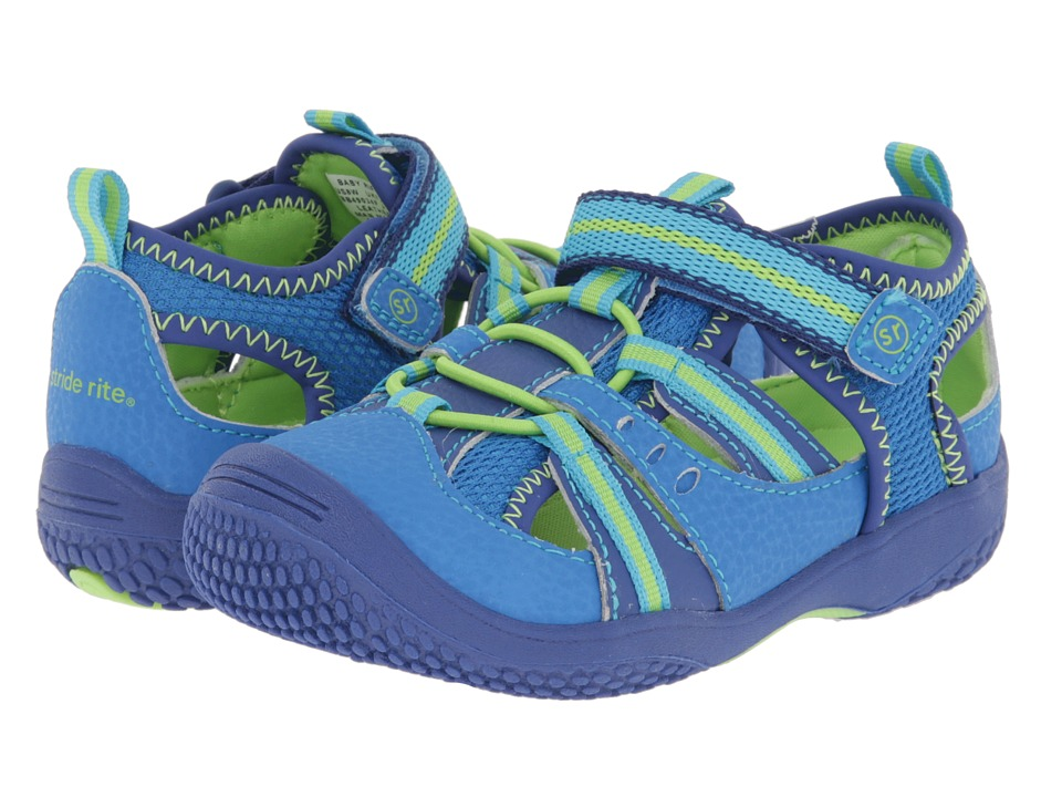Stride Rite - Riff (Infant/Toddler) (Blue/Green) Boys Shoes