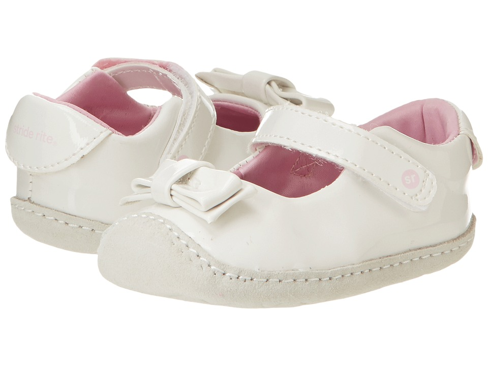 Stride Rite - Crawl Brilliant Blaire MJ (Infant/Toddler) (White Patent) Girl's Shoes