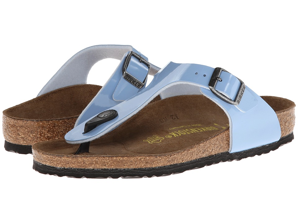 Birkenstock Kids - Gizeh (Toddler/Little Kid/Big Kid) (Lagoon Blue Patent) Girls Shoes