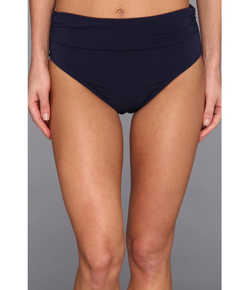 Magicsuit - Solid Jersey Brief w/ Shirring (Navy) Women's Swimwear