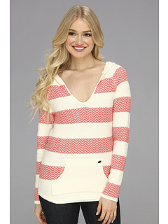 SALE! $26.99 - Save $33 on Roxy Somewhere Else V Neck Sweater (Coral Pattern Stripe) Apparel - 54.64% OFF $59.50