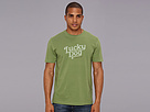 Life is good Lucky Dog Script Crusher Tee (Grassy Green)