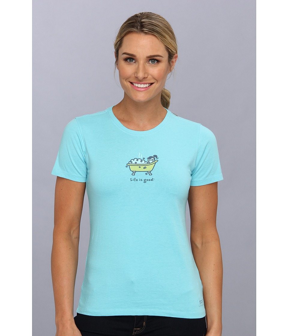Life is good - Jackie Bubble Bath Crusher Tee (Surfer Blue) Women