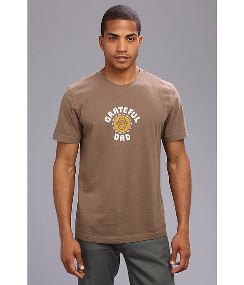 Life is good - Grateful Dad Crusher Tee (Nutty Brown) Men's Short Sleeve Pullover