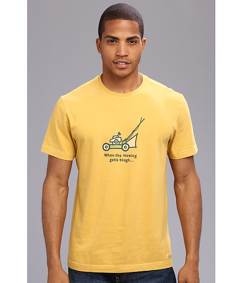 Life is good - When The Mowing Crusher Tee (Summer Gold) Men's Short Sleeve Pullover