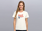 Life is good Patriotic Serif Good Vibes Crusher Tee