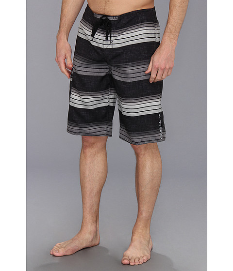 O'Neill - Santa Cruz Stripe Boardshort (Black) Men's Swimwear