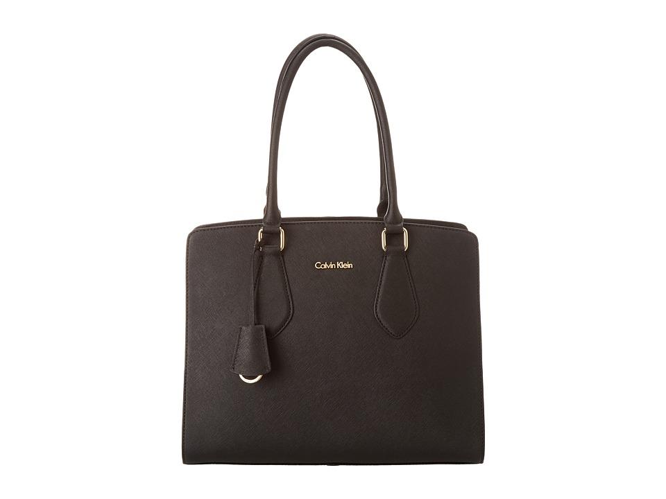 Calvin Klein - Modena Saffiano H3JD12AG (Black) Satchel Handbags